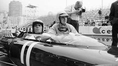 20th May 1966: American actor James Garner in a race car at Monaco while shooting Grand Prix. Kneeli... - Getty Images