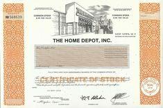 Home Depot Stock Certificate 2008 Twenty Dollar Bill, Dow Jones Index, Money Template, Stocks And Bonds, American Cemetery, Common Stock, Buy Stocks, Exotic Sports Cars, Banknote