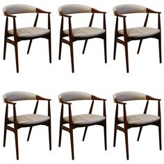 Vintage Teak Dining Chairs, 1960s | From a unique collection of antique and modern dining room chairs at https://www.1stdibs.com/furniture/seating/dining-room-chairs/