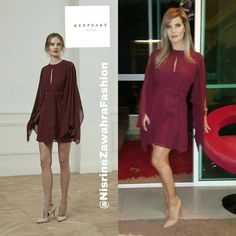 "83 Likes, 2 Comments - Nisrine Zawahra Fashion (@nisrinezawahrafashion) on Instagram: ""Nisrine Zawahra wearing flowy red sleeveless dress by @keepsakethelabel • • • • • • •…"""