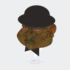 En-zed Caricature, Illustration - Tame Iti