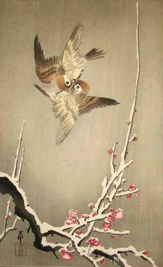 Ohara Koson - Bird Fight
