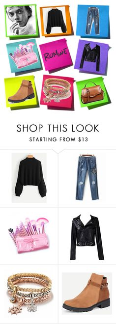 """""""ROMWE"""" by adler1 ❤ liked on Polyvore featuring Taya"""