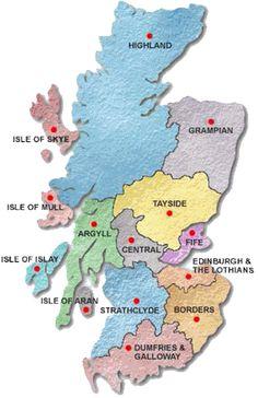 La Carte Des Regions Ecossaises