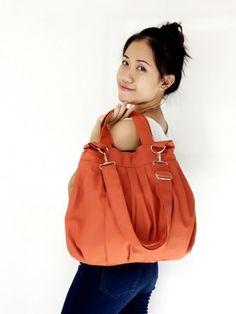 SALE  10off Handmade Canvas Bag Diaper bag Shoulder by VeradaBags, $35.10