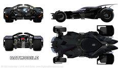 Batmobile from Batman vs. Superman prework for a metric Projetion and Cut-a-way New Batmobil - Batman v. Batman Arkham Knight, Batman Vs Superman, Batman Art, Dc Comics, Batman Comics, Batman Redesign, Batman Batmobile, Arte Robot, The Last Laugh
