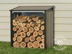 Wood Storage Arrow 1.18x0.62x1.23 m, Brown Arrow 1, Paving Slabs, Tarpaulin, Flagstone, Side Plates, Wood Storage, Galvanized Steel, Firewood, Garden Tools