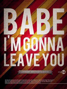 Led Zeppelin - Babe I'm Gonna Leave You #lyrics