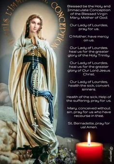 Our Lady of Lourdes pray for us Prayers To Mary, Special Prayers, Bible Prayers, Catholic Prayers, Daily Morning Prayer, Morning Prayers, Blessed Mother Mary, Blessed Virgin Mary, Rosary Prayer