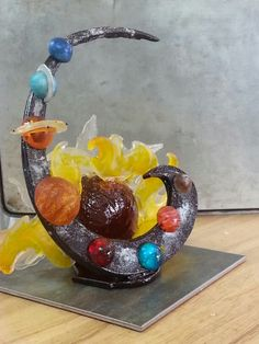 Solar system sugar sculpture