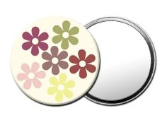 M060 Magoo Pastel Flower Petals POCKET COSMETIC MIRROR with Luxury Pouch:   These lightweight and generously sized mirrors are the ideal accessory for applying your makeup. Pop them into your handbag or an excellent gift for her. Click on the image to purchase.