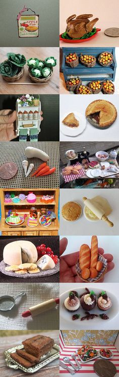 Thanksgiving feast for your dollhouse by Renee Bowen on Etsy--Pinned with TreasuryPin.com