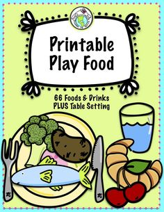 Set of Printable Play food for use in foreign language class, ELL, or for imaginative play in the regular ed classroom. Kids can categorize based on preferences, food groups, healthy vs non healthy; use the foods for a restaurant or market theme, to make a shopping list, and much more! Mundo de Pepita, Resources for Teaching Spanish to Children