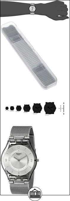 Swatch Metal Knit SFM118M - Reloj de mujer de cuarzo, correa de acero inoxidable color plata de  ✿ Relojes para mujer - (Gama media/alta) ✿