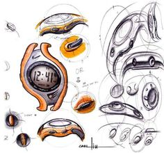 Nike Ideation watch sketch