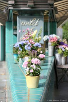 A lovely flower shop in Westbourne Grove, Notting Hill, London