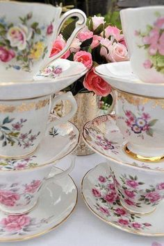 63 best pink rose china images dish sets tea cup saucer tea time rh pinterest com