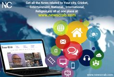 Get all the Latest News related to Your City, Cricket, Entertainment, National, International, Religion, etc all at one place at  #LatestNews  #City #CricketNews #EntertainmentNews  #NationalNews #InternationalNews #ReligionNews  #BreakingNews #Newscrab #News