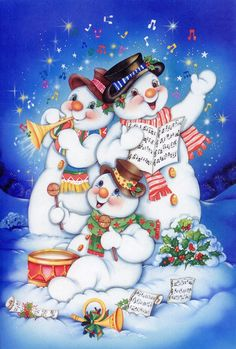 Frosty and Friends Christmas Scenes, Vintage Christmas Cards, Christmas Greeting Cards, Christmas Pictures, Christmas Snowman, Christmas Greetings, Winter Christmas, Christmas Crafts, Christmas Decorations