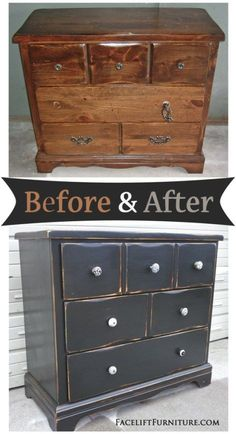 How+this+beat+up+pine+dresser+went+from+being+an+eyesore+to+an+eye+catcher+-+Before+and+After+from+Facelift+Furniture