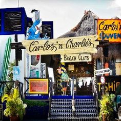 Carlos n Charlies / Cozumel had a blast! Watched my dad moon the entire place! LOL
