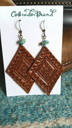 Check out this item in my Etsy shop https://www.etsy.com/listing/480469658/hand-carved-leather-earrings-with-tribal