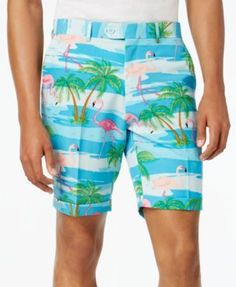 OppoSuits Men's Flaminguy Slim-Fit Tropical-Print Suit & Tie - Misc. 40