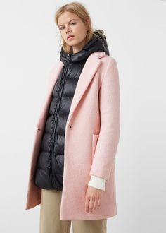 Pockets wool coat -  Women | MANGO USA