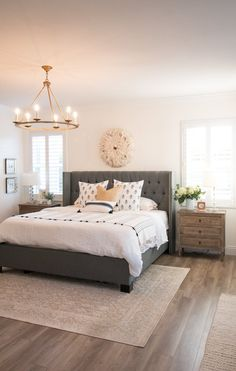Rustic Bedroom Ideas – All the bedroom design ideas you'll ever need. Discover your style as well as develop your dream bedroom system regardless of what your spending plan, style or space size. Cozy Bedroom, Modern Bedroom, Bedroom Decor, Bedroom Ideas, Rustic Master Bedroom Design, Pink Master Bedroom, Light Gray Bedroom, Simple Bedrooms, Big Bedrooms