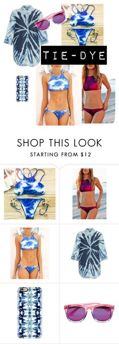 """""""Tie-dye"""" by donnatapalmer ❤ liked on Polyvore featuring Raquel Allegra, Casetify and Wildfox"""