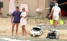 Diana Princess Of Wales and her bodyguard Trevor ReeseJones are seen in St Tropez in the summer of...