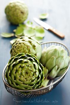 Stunning photos! Oven Braised Artichokes with Garlic and Thyme @Sylvie | Gourmande in the Kitchen