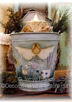 The Decorative Painting Store: Herb Angel and Her Sweet Lamb Pattern - Terrye French, Newly Added Painting Patterns / e-Patterns