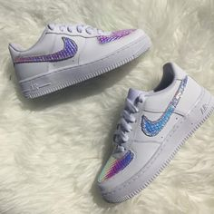 643fda1146a Nike Python Holographic Air Force 1 Custom Sneakers - limetliss Custom  Sneakers
