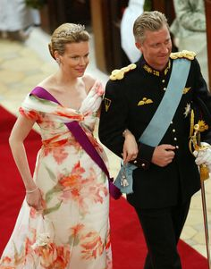 Crown Prince Philippe and Crown Princess Mathilde of Belgium attend the wedding of Danish Crown Prince Frederik and Miss Mary Elizabeth Dona...