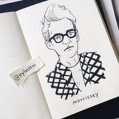 SILVIA REGINATO ILLUSTRATIONS — ????New tattoo???? #morrissey #sketch #sketchbook...