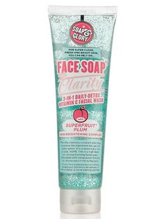soap & glory face soap - this stuff is great! Suits sensitive dry skin