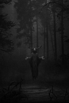 Dark art for our inner demons Arte Horror, Horror Art, Creepy Horror, Fantasy Creatures, Mythical Creatures, Creepy Images, Satanic Art, Dark Artwork, Black Aesthetic Wallpaper