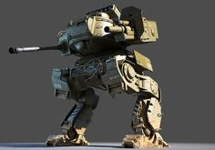 usa mech tank 3d model