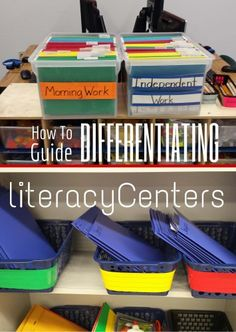 How to Guide:Differentiating Literacy Centers - IgnitED Literacy Stations, Literacy Activities, Literacy Centers, Kindergarten Literacy, Teaching Strategies, Teaching Tools, Teaching Resources, Teaching Ideas, Differentiation Strategies