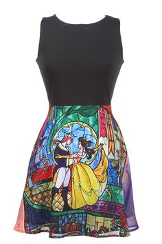 Disney Beauty And The Beast Stained Glass Dress Size : Medium