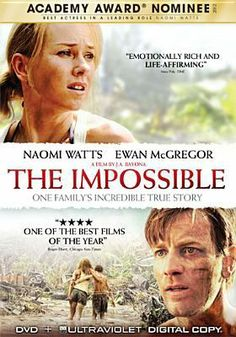 Cover Art f  Based on a true story of a family caught, with tens of thousands of strangers, in the mayhem of one of the worst natural catastrophes of our time. But the true-life terror is tempered by the unexpected displays of compassion, courage, and simple kindness that Maria and her family encounter during the darkest hours of their lives.or The impossible [DVD].