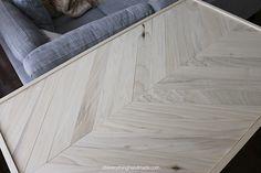 DIY Table-Top | Herringbone Hairpin Coffee Table before staining