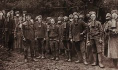WW1, Czech soldiers with gas masks