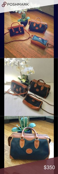 Bundle of Dooney & Bourke Bags Pre owned but in good condition, a set of three beautiful vintage Authentic Leather Dooney Bags. A large, a medium and a small bag. Please feel free to ask questions. Originally over $700 altogether Dooney & Bourke Bags