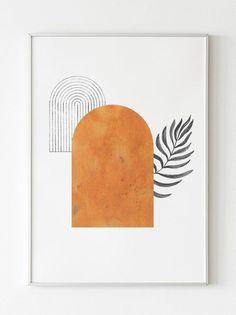 Wall Art Tips. Immediate Secrets For Wall Art - The Options - Busload Lioness Mid Century Wall Art, Mid Century Modern Art, Wall Art Designs, Design Art, Modern Prints, Minimalist Art, Art Decor, Decor Room, Bedroom Decor