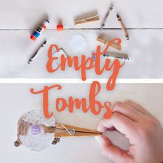This simple (inexpensive) Easter craft makes the empty tomb easy for little minds to grasp! And it's fun... which is always good. #create #outofthecomfortzone #clothespins #emptytomb