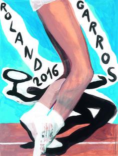 Affiche officielle Roland-Garros 2016  - Marc Desgrandchamps tennis FFT