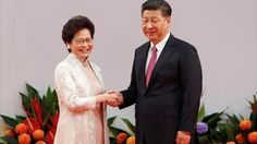 China's Xi Warns Hong Kong to Toe the Line as He Swears in New Leader
