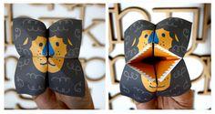 tátika oroszlán Tátika oroszlán papírból   letölthető mintával